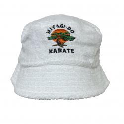 MIYAGI WHITE TERRY TOWEL BUCKET HAT