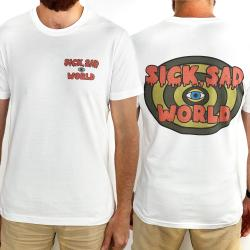SICK SAD WORLD FRONT AND BACK WHITE TEE