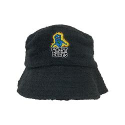 GHOST DROPS BLACK TERRY TOWEL BUCKET HAT