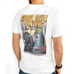 GOOD WILL PUNTING FRONT AND BACK WHITE TEE