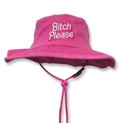 BITCH PLEASE WIDE BRIM HAT
