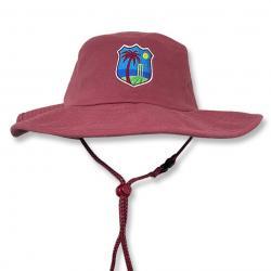 WEST MAROON WIDE BRIM HAT