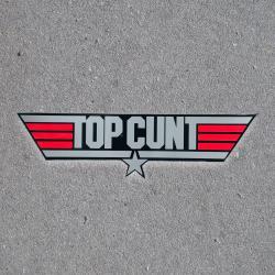 TOPCUNT DIE CUNT STICKER