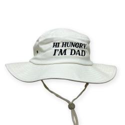 HI HUNGRY NATURAL WIDE BRIM HAT