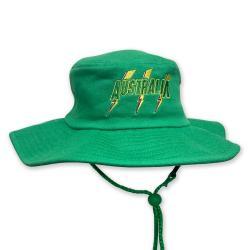 AUSTRALIA GREEN WIDE BRIM HAT