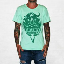 BUFFALO SOLDIER GREEN TEE