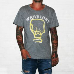 WARRIORS MARBLE GREY TEE