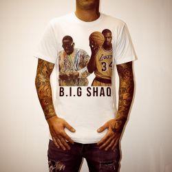 B.I.G SHAQ WHITE TEE